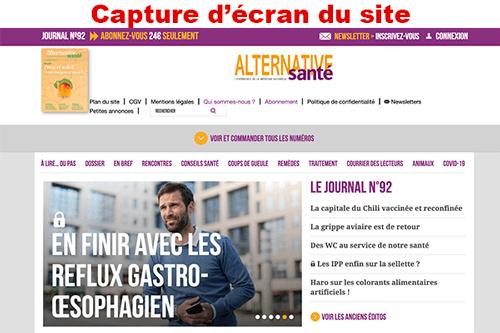 Activer un compte sur alternativesante.fr