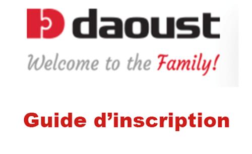 Créer un compte Daoust