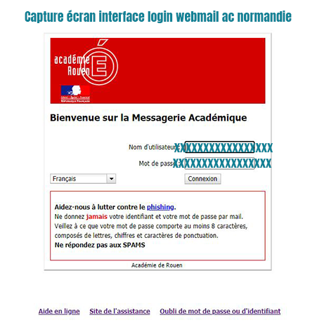 connexion messagerie academique rouen