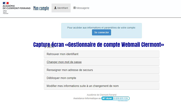 gestion webmail clermont