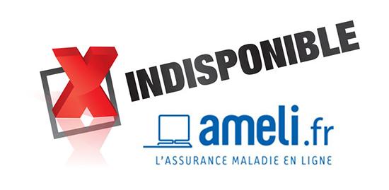 site ameli indisponible