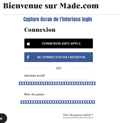 connexion compte client made